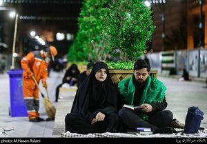 عکس/  احیا شب بیست و سوم در گذرگاه عاشقی