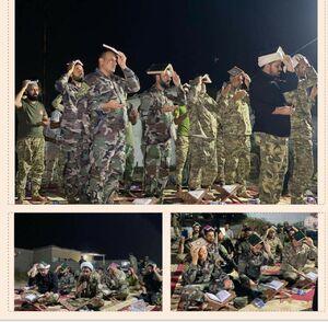 احیای شب قدر نیروهای حشدالشعبی در اطراف شهر موصل +عکس