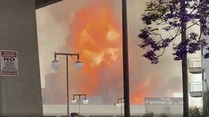 انفجار و آتش سوزی مهیب در مرکز لس آنجلس