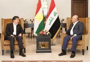 ماجرای پیام ویژه برهم صالح به مسعود بارزانی چیست؟