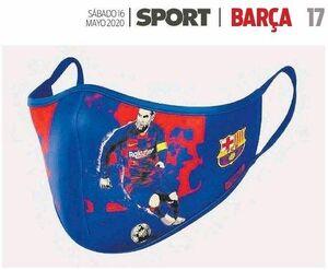 عکس/ بازیکنان بارسلونا روی ماسکهای کرونایی!
