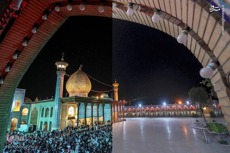 این تصویر نگاهی به برگزاری شب قدر امسال و مقایسه با شبهای قدر سال گذشته است.