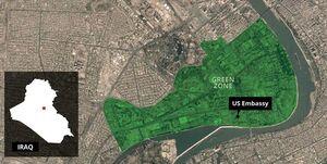 یک راکت نزدیک سفارت آمریکا در بغداد اصابت کرد