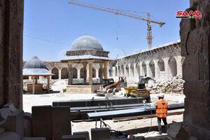 آغاز ترمیم مسجد اموی حلب