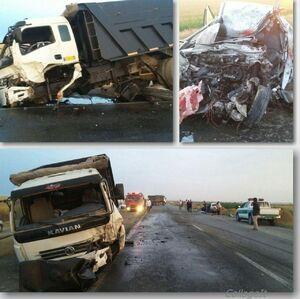 عکس/ تصادف مرگبار کامیون با پراید