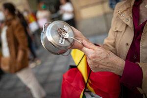 عکس/ تظاهرات ضد دولتی در اسپانیا