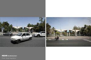 عکس/ تهران با فاصله پنجاه روز