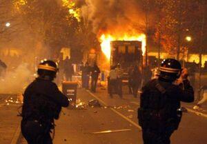 ادامه ناآرامی در حومه پاریس