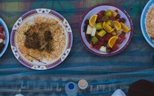 سفره افطار برای نیروهای حشد الشعبی در عراق +عکس