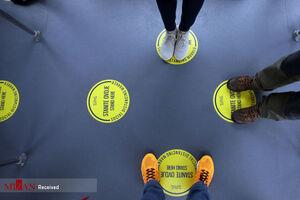 تصاویری از فاصلهگذاریهای اجتماعی در جهان