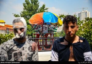 عکس/ دستگیری سارقین مسلح غرب تهران