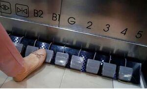 عکس/ ابتکار آسانسوری برای پیشگیری از کرونا