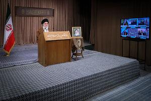 سخنرانی تلویزیونی به مناسبت روز جهانی قدس رهبرانقلاب نمایه