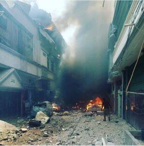 تصویری هولناک از حادثه سقوط هواپیما در کراچی پاکستان