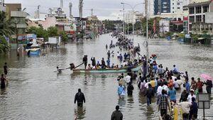 تصاویری از خسارتهای سیل مرگبار در بنگلادش
