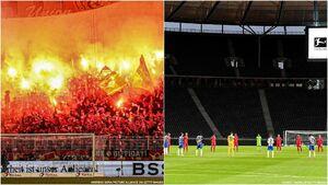 عکس/ دربی برلین قبل و بعد از کرونا