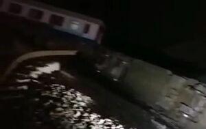 اولین فیلم از محل حادثه  قطار همدان-مشهد