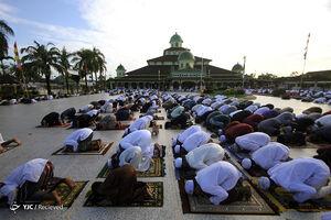 عکس/ اقامه نماز عید فطر توسط مسلمانان جهان