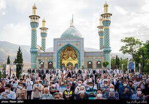 عکس/ برگزاری نماز عید فطر در امامزاده پنجتن لویزان