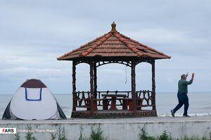 عکس/ مسافران شمال کنار سواحل