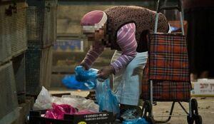 صف طولانی غربیها برای دریافت غذای رایگان +فیلم