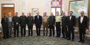 عکس/ دیدار فرماندهان نیروهای مسلح با لاریجانی