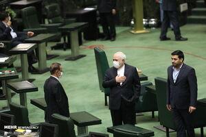 عکس/ ظریف در جلسه امروز مجلس