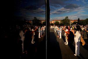 عکس/ گردهمایی اعتراضی پرستاران در مادرید