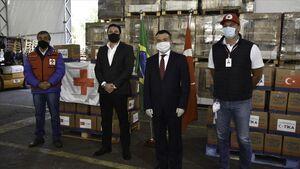 عکس/ ارسال بستههای غذایی ترکیه به برزیل