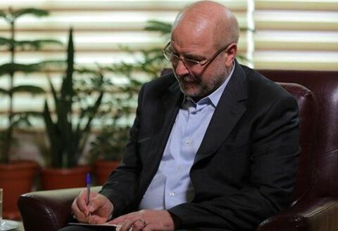 افسوس قالیباف برای اولین تماس بعد از ریاست مجلس+ عکس