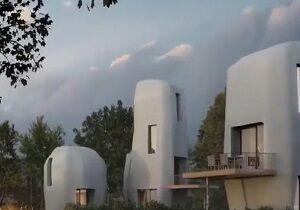ساخت خانههای بتنی با پرینتر سه بعدی +فیلم