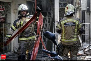 عکس/ آتش سوزی در یکی از پاساژهای تهران