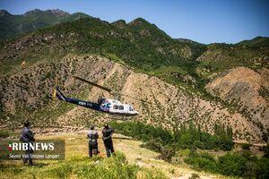 عکس/ نجات گردشگر اصفهانی از ارتفاعات مازندران