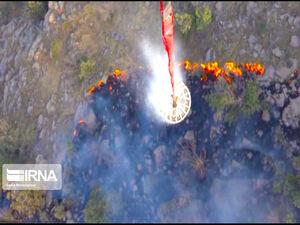 عکس/ مهار آتش سوزی ارتفاعات گچساران