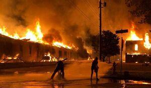 شهر مینیاپولیس آمریکا از کنترل پلیس خارج شد