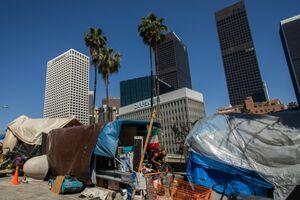 عکس/ بیخانمانی در ابرشهر لسآنجلس