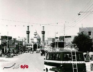 تصویری منتشر نشده از خیابان باب القبله در کربلای معلی