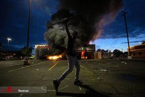 """فیلم/ """"مینیاپولیس"""" معرکه معترضان با نژادپرستی"""