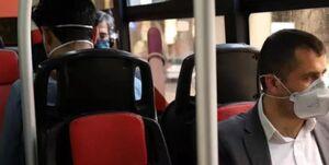 ورود بدون ماسک به اتوبوس ممنوع