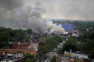 طوفان آتش در آمریکا+ عکس