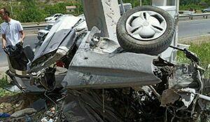 عکس/ صحنه ای ناگوار از تصادف پراید