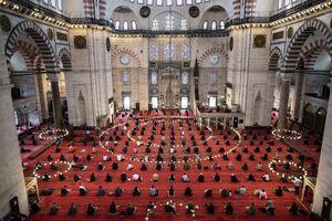 عکس/ بازگشت مسلمانان به مساجد در سراسر جهان