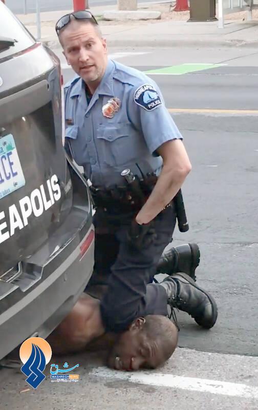 پلیس مینیاپولیس در حال کشتن جرج فلوید- 5 خرداد 1399 شمسی