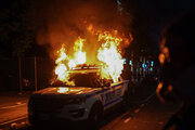 شهرها و ایالتهای آمریکا همچنان در آتش خشم معترضان میسوزند +عکس