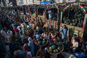 عکس/ بازار هندوانه فروشان