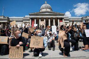 عکس/ اعتراضات ضد نژادپرستی به اروپا رسید