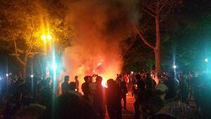 تصاویری از ناآرامیهای شب گذشته در برلین
