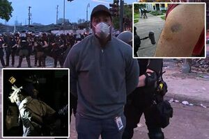 عکس/ برخورد خشن پلیس آمریکا با خبرنگاران