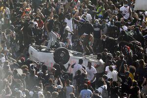فیلم/ شهر مینیاپولیس آمریکا در قرق معترضان