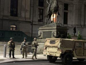آماده باش گارد ملی آمریکا برای روز سوم درگیری